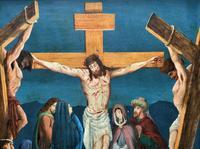 Superb 19th Century Old Master Biblical Christ Oil Portrait Painting - Gothic Oak Frame (6 of 17)