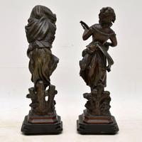 Pair of Antique Victorian Spelter  Figurines (7 of 9)