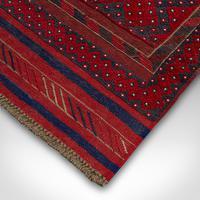 Long Antique Meshwari Runner, Persian, Wool, Kilim, Hallway, Carpet c.1900 (9 of 12)