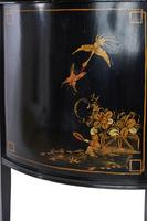 Chinoiserie Demi Lune 2 Door Side Cabinet c.1920 (8 of 9)