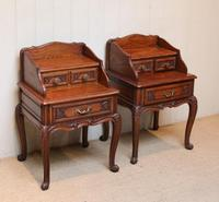 Pair of French Solid Oak Bedside Cabinets (2 of 8)