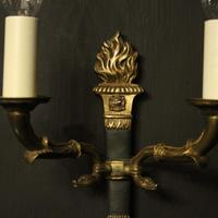 French Pair of Empire Gilded Wall Lights (7 of 10)