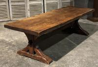 Huge Rustic Chestnut French Farmhouse Dining Table