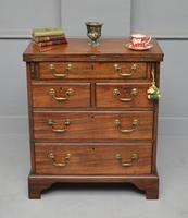 Small Georgian Mahogany Bachelors Writing Chest of Drawers with Provenance (3 of 24)