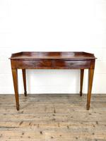 Victorian Two Drawer Mahogany Side Table (2 of 13)
