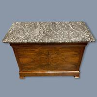 Figured Walnut Marble Top Commode (9 of 9)