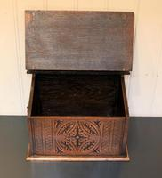 Solid Oak Carved Box (5 of 8)