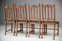 Arts & Crafts Oak Dining Chairs (11 of 12)