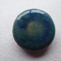 Arts & Crafts Pewter Brooch Mottled Blue Stone (5 of 5)