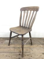 Set of 4 Antique Ash & Elm Farmhouse Chairs (7 of 8)