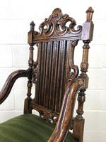 Victorian Carved Oak Armchair (6 of 10)