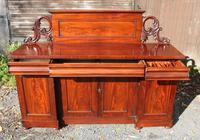 1900's Large Carved Mahogany 4 Door Sideboard with Back (3 of 5)