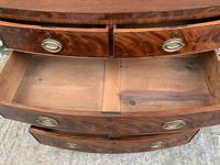 Regency Flame Mahogany Bow Front Chest of Drawers (9 of 17)