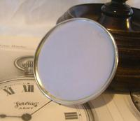 Vintage Pocket Watch 1955 Services Army Two Tone Dial Chrome Case FWO (8 of 10)