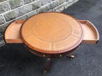 Mahogany Leather Top Drum Table (8 of 9)