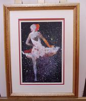 Watercolour Prima Donna Ballerina Signed (12 of 12)