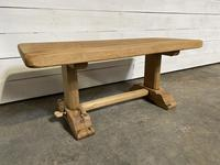 French Farmhouse Bleached Oak Coffee Table (2 of 9)