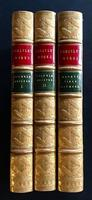 1871 Works of Thomas Carlyle  3 X Fine Leather Bindings