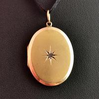 Antique Victorian Diamond Locket, 15ct Gold (6 of 10)