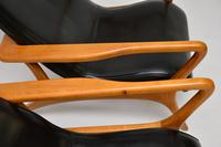 Pair of Vintage Leather Armchairs in the Manner of Vladimir Kagan (14 of 15)