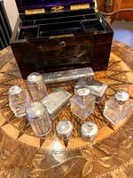 Antique Coromandel Dressing Box With Bottles, Bramah Lock, Secret Drawer (9 of 10)