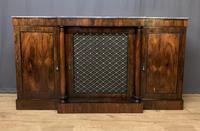 Beautiful Regency Rosewood 3 Door Breakfront Cabinet (2 of 11)