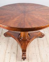 William IV Flame Mahogany Centre Table (4 of 7)