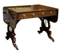 Fine Regency Rosewood Sofa Table
