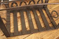 Antique Steel Fireplace Footman. Kettle and Plate Trivet. Welsh Folk Art (10 of 10)