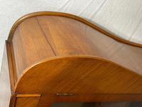 Art Deco Walnut Curved Bookcase Display Storage Cabinet (10 of 29)