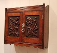 Victorian Carved Wall Cabinet (4 of 9)