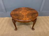 Round Burr Walnut Queen Anne Style Coffee Table (2 of 6)