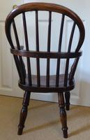 Victorian Ash & Elm Wood Childs Windsor Chair c.1840 (4 of 14)