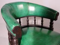 Fine Pair of Victorian Horseshoe Backed Library or Desk Chairs (3 of 5)
