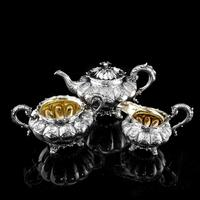 Magnificent Georgian Solid Silver Tea Set / Service 3 Piece Set - Barnard 1835 (2 of 29)