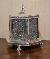 Fine Victorian Silver Plate Biscuit Box or Barrel (3 of 9)
