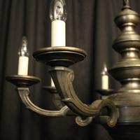 French Silver Gilded 8 Light Antique Chandelier (2 of 6)