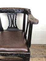 Victorian Carved Oak Gothic Armchair (M-1223) (7 of 12)