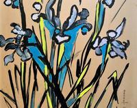 Large Beautiful 1958 Vintage Impressionist Floral Still Life Oil Painting (7 of 12)