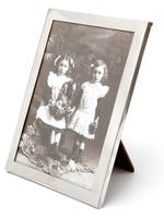 Silver Photo Frame with a Completely Plain Silver Border