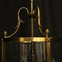 French Convex Gilded Triple Light Antique Lantern (9 of 10)