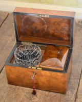 Fine London Made Burr Walnut Tea Caddy (6 of 6)