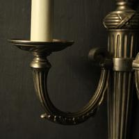 French Set of 4 Silver Gilded Antique Wall Lights (9 of 10)