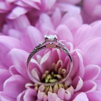 Art Deco Platinum Diamond Solitaire Ring, Antique Diamond Engagement Ring (3 of 8)