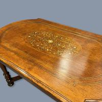 French Walnut and Marquetry Coffee Table (4 of 5)