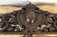 Antique French Pediment Walnut Panel Architectural Salvage Ciel De Lit (9 of 10)