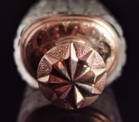 Antique 14ct Rose Gold Scent Bottle, 19th Century, Dutch, Cased (10 of 15)