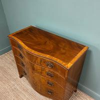 Stunning Georgian Mahogany Antique Serpentine Front Chest of Drawers (3 of 10)