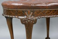 A Large Carved Mahogany Oval Stool (5 of 6)