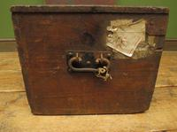 Antique Pine Tuck Box with Old Luggage Labels (13 of 19)